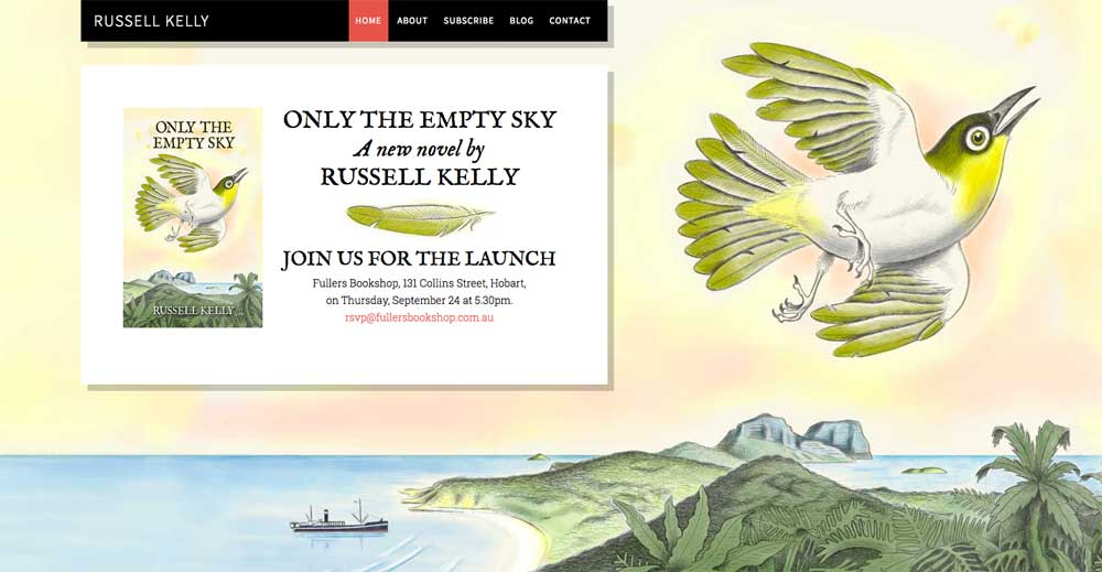 website for Russell Kelly by Tim Squires