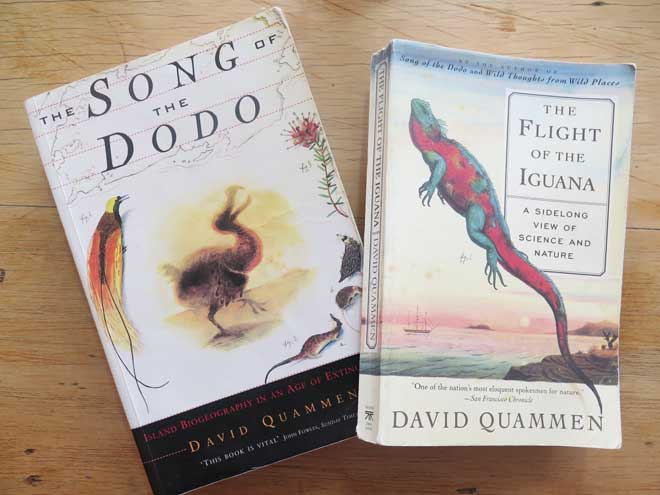 Books by David Quammen with cover artwork by Walton Ford
