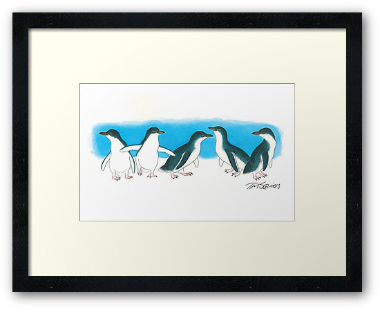 penguins-framed