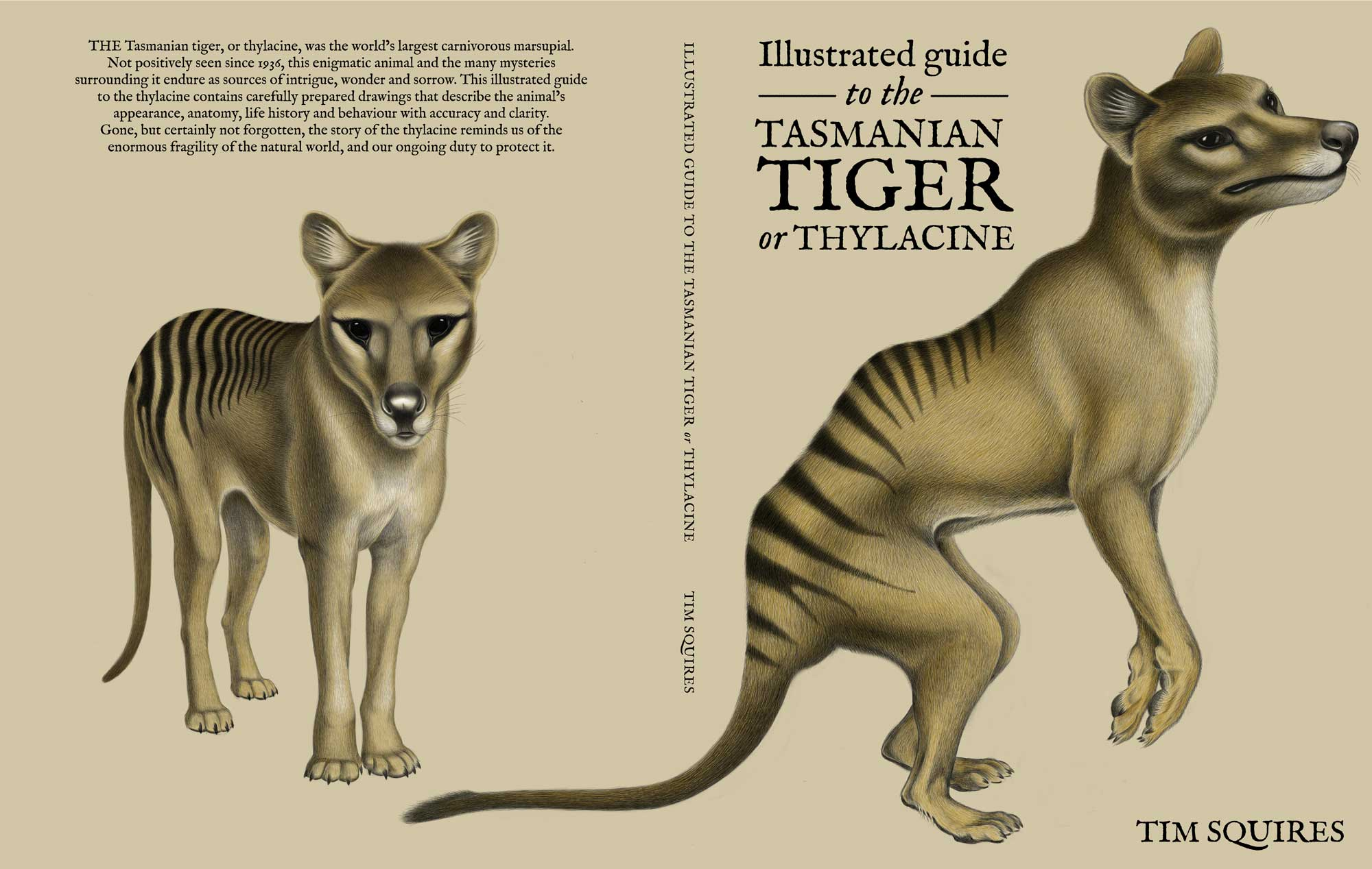 Cover art by Tim Squires for Illustrated Guide to the Tasmanian Tiger