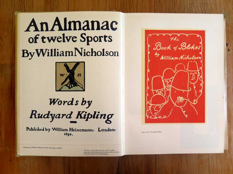 Examples of work by William Nicholson from the 1956 Golden Jubilee edition of the Penrose Annual.