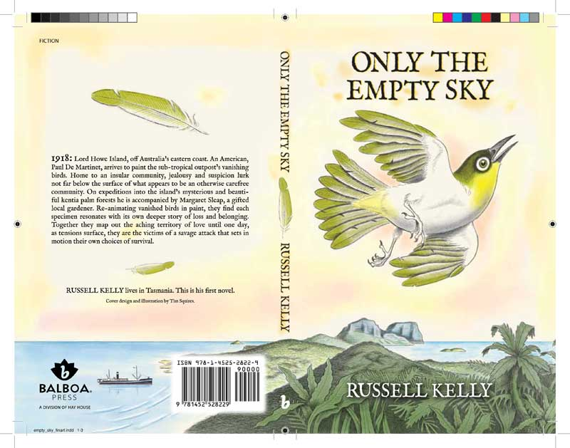 Only The Empty Sky finished artwork for printing by Tim Squires.