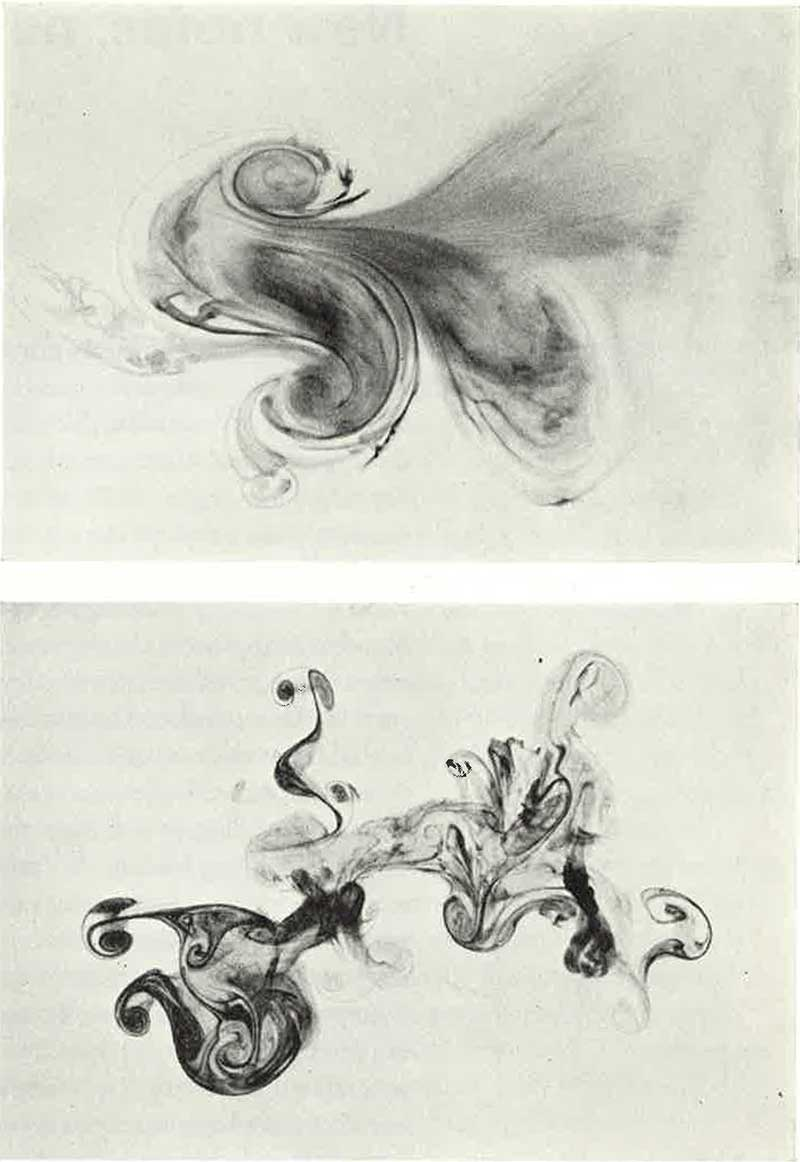 Photographs by David Moore of ink drops in water that inspired the swirling designs of the Australian twenty dollar note.