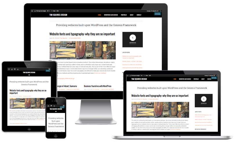 Mobile responsive websites.