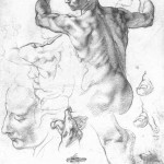 Michelangelo studies for the Libyan Sybil