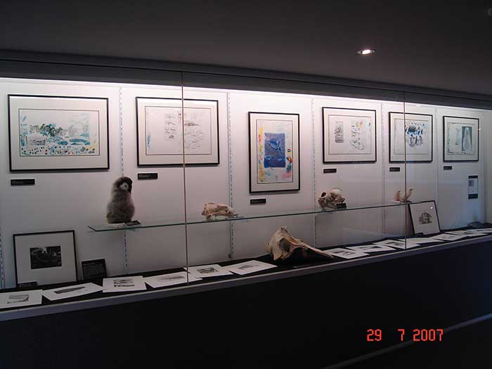 Tim Squires Antarctica exhibition at the University of Tasmania, 2007