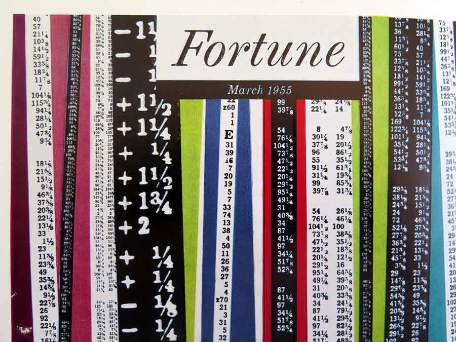 Detail from the cover of <em>Fortune</em> magazine, designed by W.H. Allner, from the 1956 Golden Jubilee edition of the Penrose Annual.