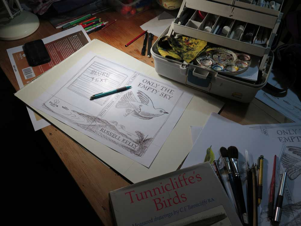Illustration process Only The Empty Sky Tim Squires